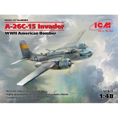 1:48 A-26Ð¡-15 Invader, WWII American Bomber 1:48