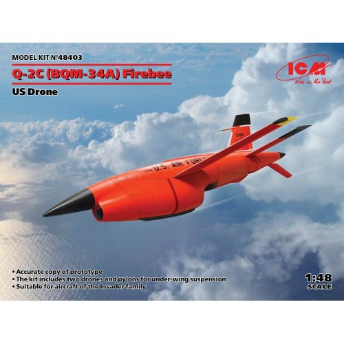 1:48 Q-2C (BQM-34A) Firebee, US Drone2 pcs 1:48