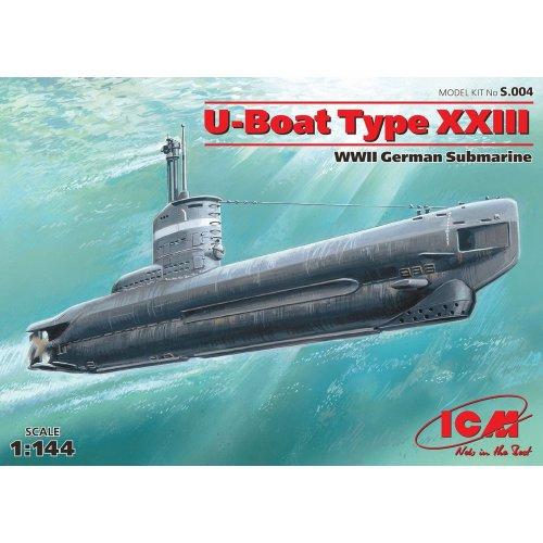 1:144 U-Boat Type XXIII, WWII German Submarine 1:144