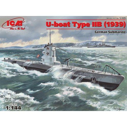 1:144 U-Boat Type IIB (1939), German Submarine 1:144