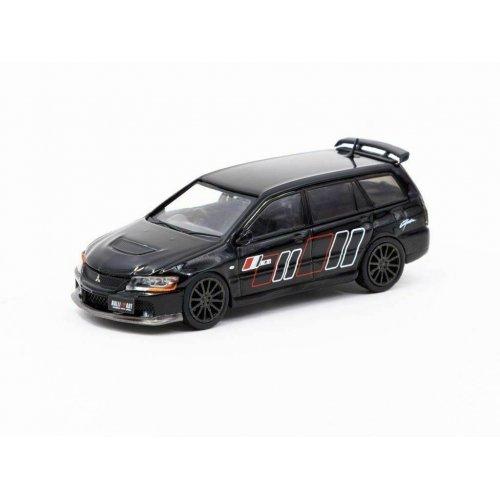 2005 Mitsubishi Lancer Evolution IX Wagen Ralliart, Black 1:64