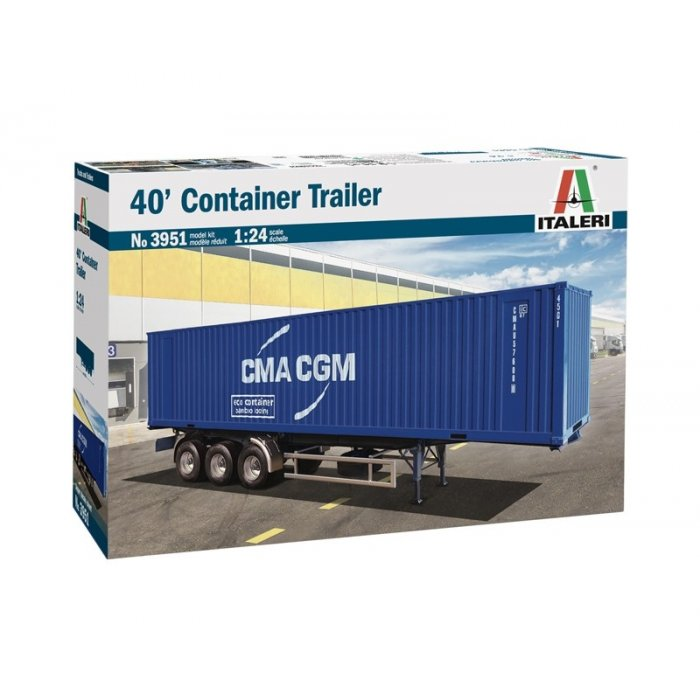 1:24 40 CONTAINER TRAILER 1:24