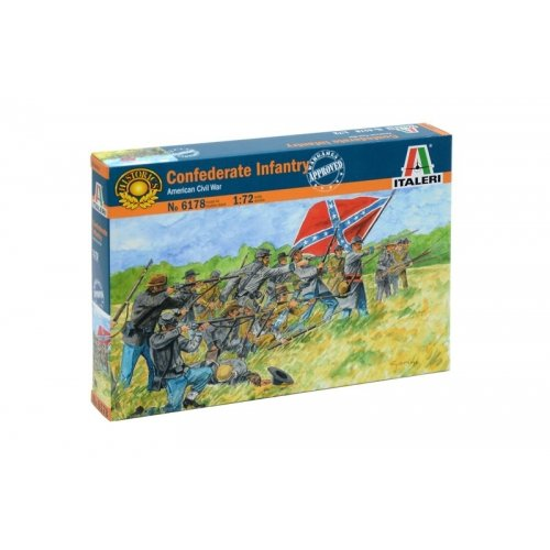 1:72 AMERICAN CIVILWAR: CONFEDERATE INFANTRY - 50 figures 1:72
