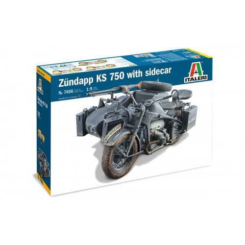 1:9 ZUNDAPP KS 750 with Side Car 1:9