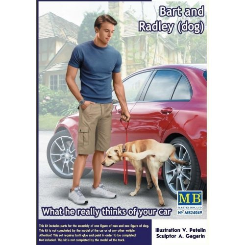 1:24 Bart and Radley (dog). What he really thinks of your car.  1:24