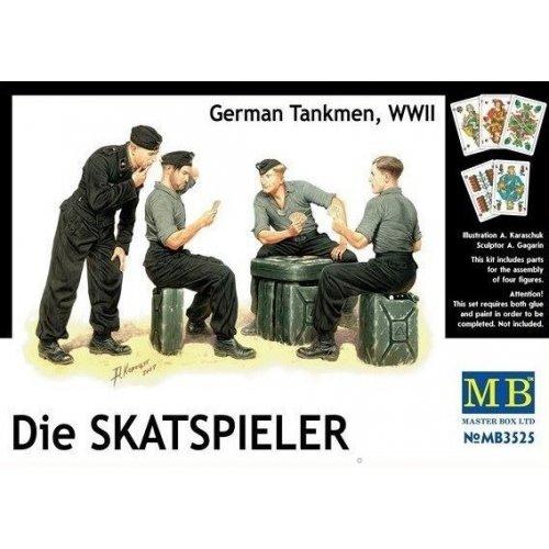 1:35 Die Skatspieler, German Tankmen, WWII - 4 figures 1:35