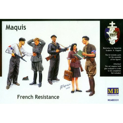 1:35 Maquis, French Resistance - 5 figures 1:35