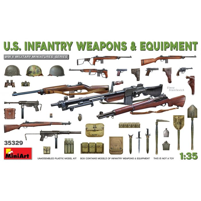 1:35 U.S. Infantry Weapons & Equipment 1:35