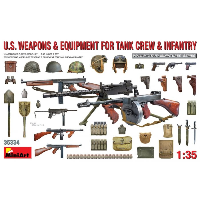 1:35 U.S. Weapons & Equipment for Tank Crew & Infantry 1:35
