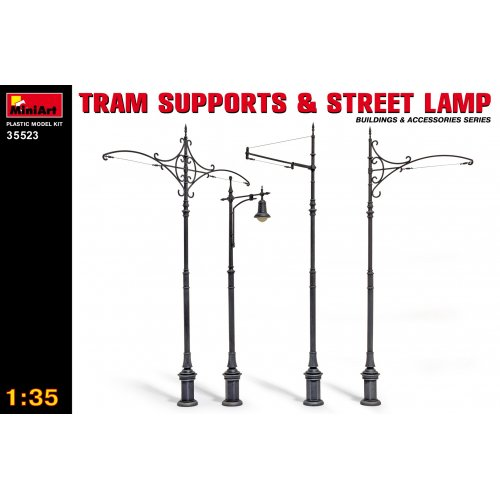 1:35 Tram Supports and Street Lamps 1:35