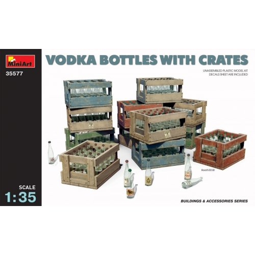 1:35 Vodka Bottles with Crates 1:35