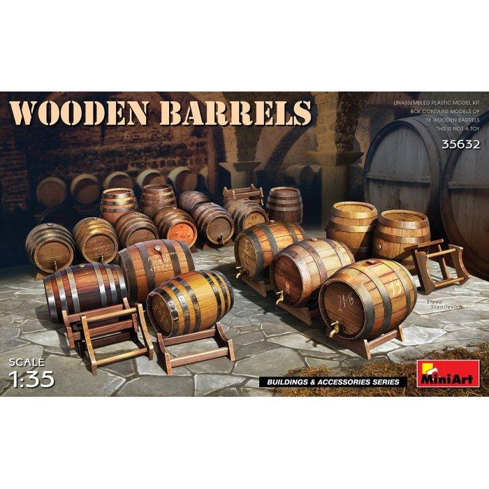 1:35 Wooden Barrels 1:35