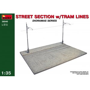 1:35 Street section with tram line 1:35