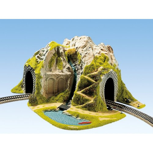 Curved Tunnel, Single Track, 41 x 37 cm H0 /1:87/