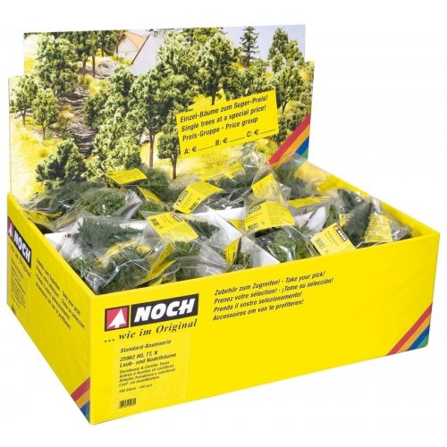 Deciduous Trees with Tree Bases, 8 cm high (H0, TT, N) - sold per piece H0 /1:87/