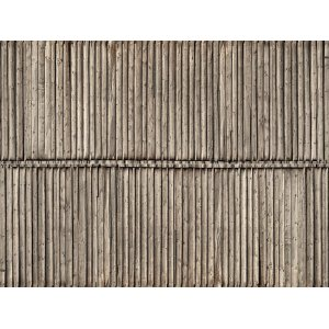 "3D Cardboard Sheet ""Timber Wall"" 25 x 12.5 cm (H0) H0 /1:87/"
