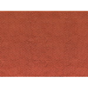 "3D Cardboard Sheet ""Plain Tile"" red, 25 x 12.5 cm (H0) H0 /1:87/"