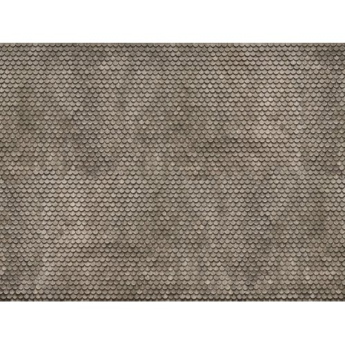 "3D Cardboard Sheet ""Plain Tile"" grey, 25 x 12.5 cm (H0) H0 /1:87/"