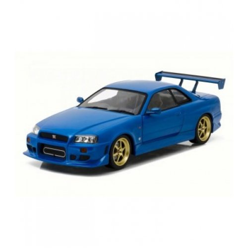 1:18 1999 Nissan Skyline GT-R (R34) - Bayside Blue - Artisan Collection - GREENLIGHT