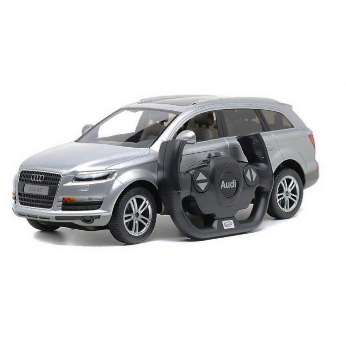 Masina Audi Q7 1:14 RTR cu Telecomanda - Argintiu
