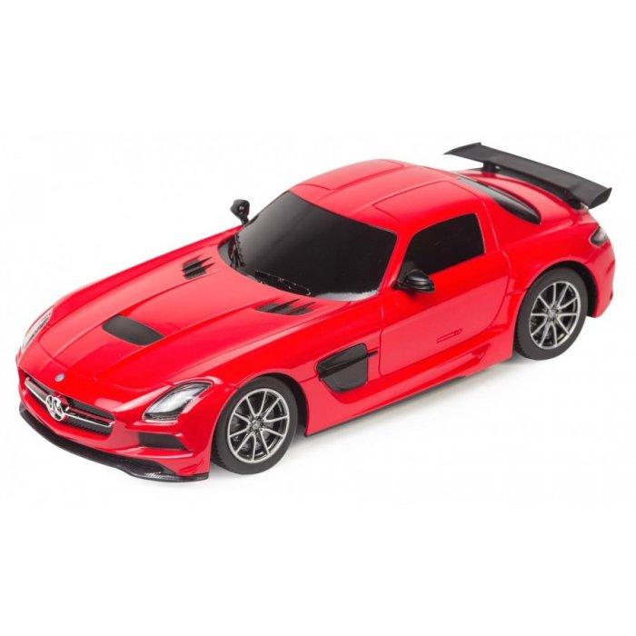 Masina, Rastar, Mercedes-Benz SLS AMG Black series 1:18 RTR Cu Telecomanda - Rosu