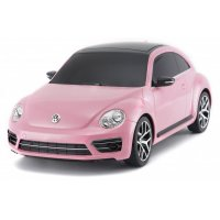 Masina, Rastar, Volkswagen Beetle 1:24 RTR Cu Telecomanda - Pink