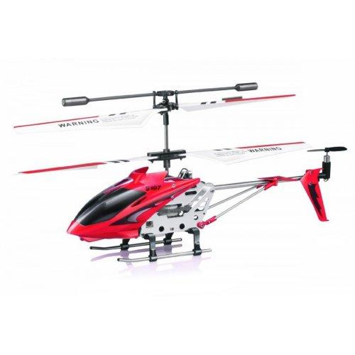 Elicopter Syma, S107G raza 15m, infrarosu, cu telecomanda - Rosu