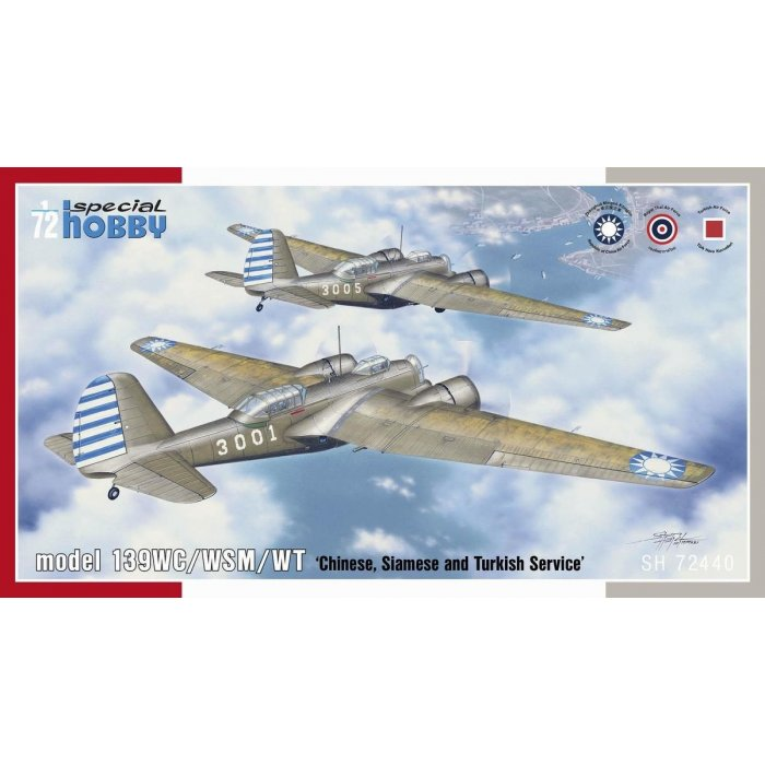 1:72 model 139WC/WSM/WT 'Chinese, Siamese and Turkish Service' 1:72