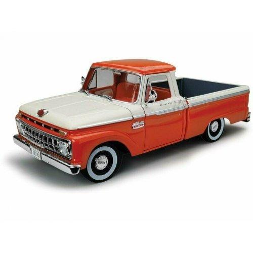 1965 Ford F-100 Pickup Orange/White 1:18