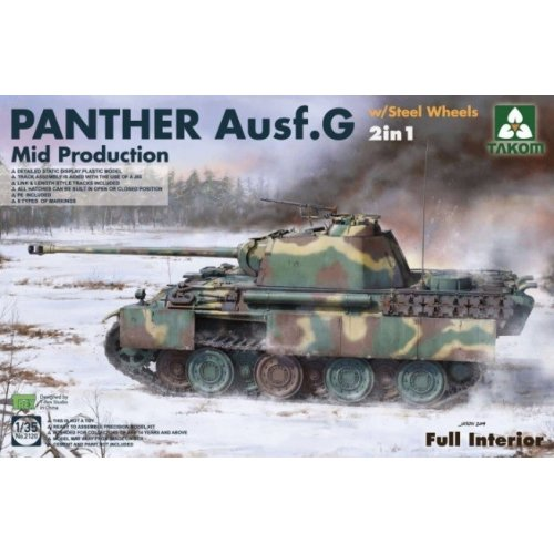 1:35  WWII German medium Tank   Panther Ausf.G  Mid  production w/ Steel Wheels 2 in 1 1:35