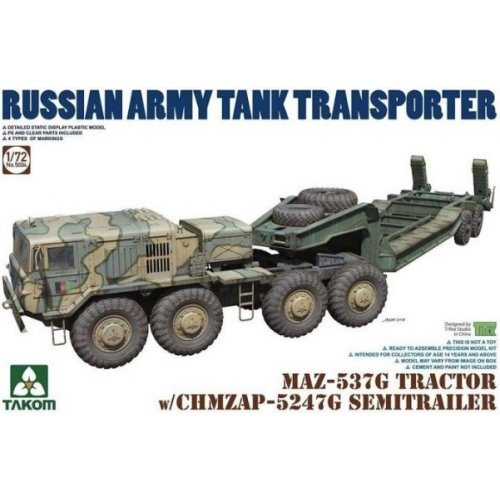 1:72 MAZ-537G Tractor with CHMZAP 5247G Semi Trailer 1:72