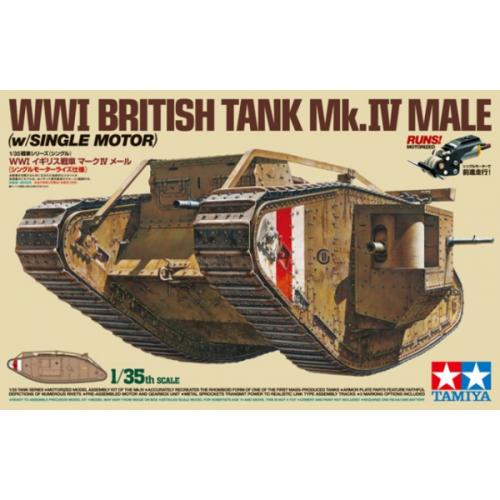 1:35 WWI British Tank Mk.IV Male - w/Single Motor - 5 figures 1:35