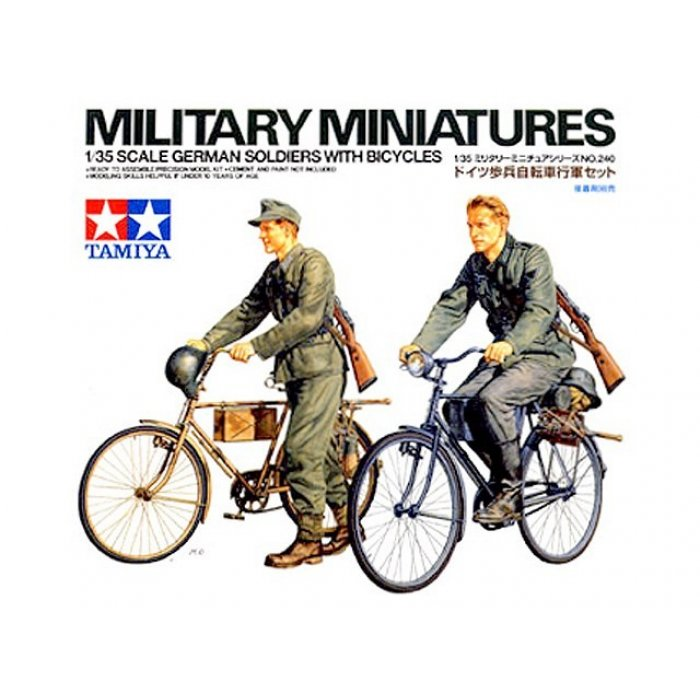 1:35 German Soldiers with Bicycles - 2 figures 1:35