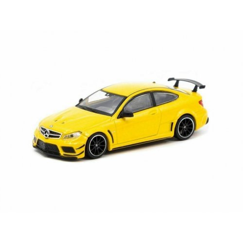 Mercedes Benz C63 AMG Coupe Black Series, Yellow 1:64