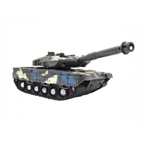Tank cu telecomanda Lumina si Sunet 1:18 Albastru