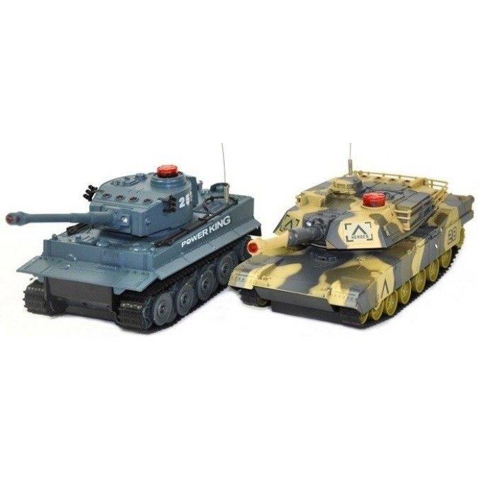 Set de Tanc cu telecomanda - German Tiger vs Abrams RTR 1:24