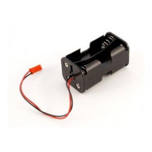 Koszyczek kostka na 4 akumulatory R6/AA z wyjÅ›ciem JST - VRX/85197