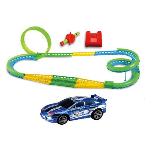 Mașină de fluiere - 375 cm, 3 bucle, pod - albastru