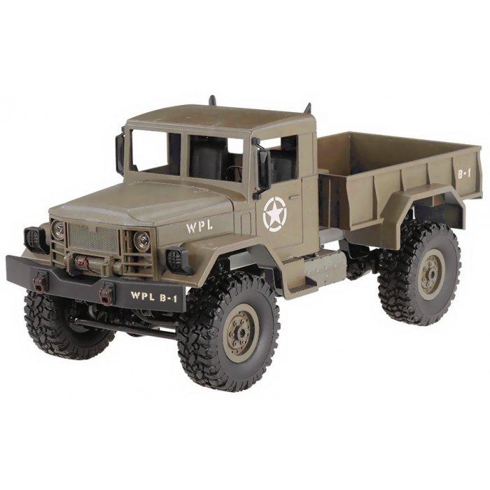 Camion Militar cu Telecomanda WPL B-14 1:16 4x4 2.4GHz RTR - Galben