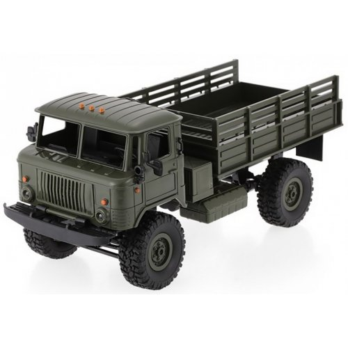 Camion Army Truck WPL B-24 Scara 1:16 4x4 2.4 GHz RTR - Verde