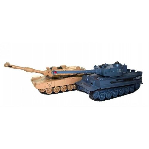 The set of tanks fighting each other - M1A2 Abrams v2 and German Tiger v2 2.4GHz 1:28 RTR