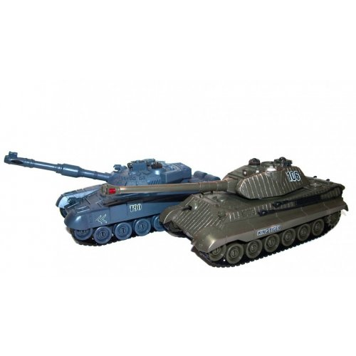 The set of tanks fighting each other - Russian T90 v2 and German King Tiger v2 2.4GHz 1:28 RTR