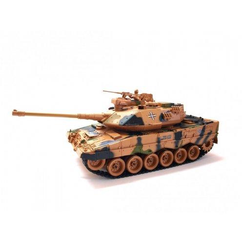 Masina Zegan, German Leopard 2 ASG 1:18 27/40MHz RTR Trage cu bile BB cu Telecomanda