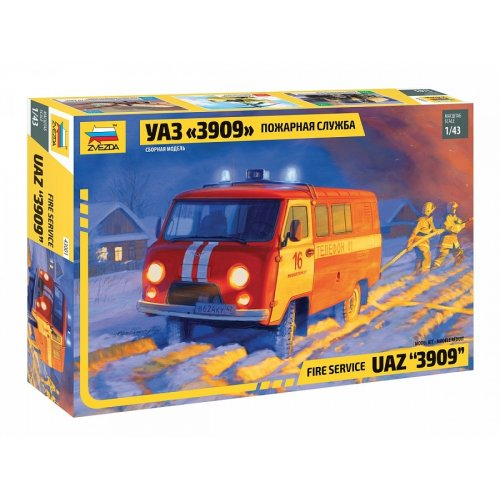 1:43 UAZ 3909 FIREFIGHTER CAR 1:43
