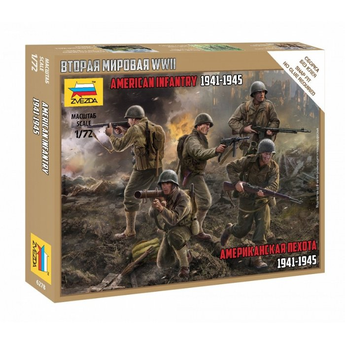 1:72 American infantry 1941-1945 - snap-fit 1:72