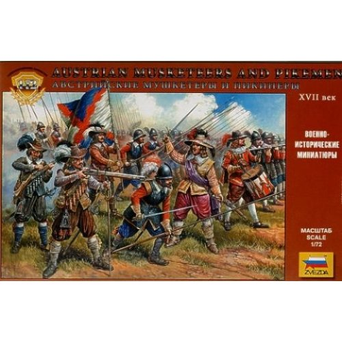1:72 Austrian musketeers and pikemen 16-17th c. - 45 figures 1:72