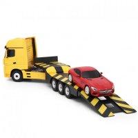 Camion Rastar, Mercedes-Benz Actros   Masina 1:24 RTR 2.4GHz - Galben