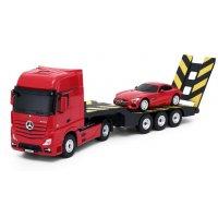 Camion Rastar, Mercedes-Benz Actros   Masina 1:24 RTR 2.4GHz - Rosu